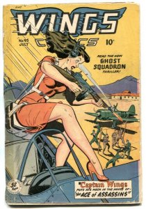 Wings #95 1948- Fiction House -GGA cover-missing page