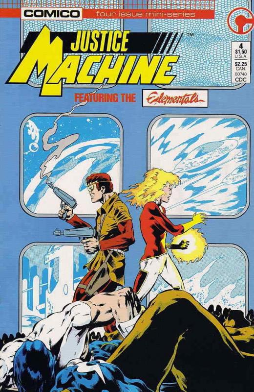 Justice Machine Featuring the Elementals #4 FN; COMICO | save on shipping - deta