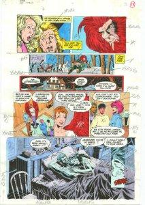 TEEN TITANS #7-PRODUCTION ART-COLOR GUIDE PG 12-JIMINEZ VG