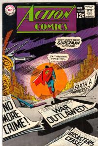 Action Comics #368 (Oct-68) FN- Mid-High-Grade Superman