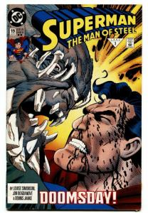 SUPERMAN THE MAN OF STEEL #19-FIRST DOOMSDAY COVER-DC-HTF-2ND PRINTING.