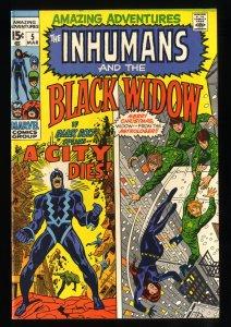 Amazing Adventures #8 VF- 7.5 White Pages Black Widow Inhumans Thor!