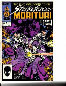 Lot Of 7 Strikeforce Morituri Marvel Comic Books # 1 2 3 4 5 6 7 1986 TW56