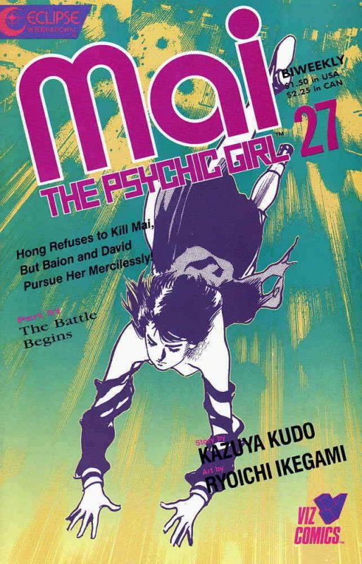 Mai, the Psychic Girl #27 VF/NM; Eclipse | save on shipping - details inside