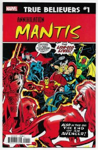 True Believers Annihilation #1 Rep Avengers #112 | 1st App Mantis (Marvel) NM
