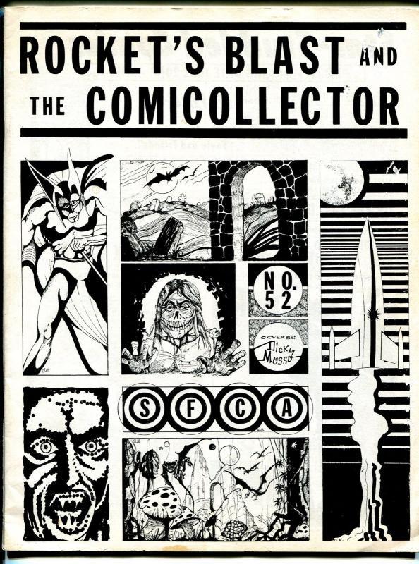 Rocket's Blast & Comic Collector #52 1967-original collectors fanzine-Mosso-VG