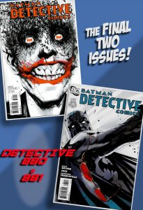 THE LAST TWO ISSUES OF DETECTIVE COMICS!! #880 & #881(Sept/Oct 2011) Snyder/Jock