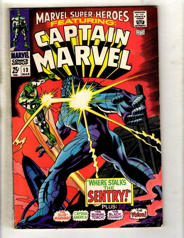 Marvel Super-Heroes # 13 VF- Comic Book Feat. Captain Marvel Carol Danvers JF15