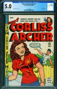 Meet Corliss Archer #1 CGC 5.0 1948- Al Feldstein Headlight cvr 2051360008