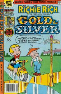 Richie Rich Gold and Silver #24 FN; Harvey | save on shipping - details inside