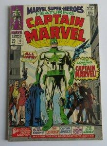 Marvel Super-Heroes #12 FN- 1st App. Captain Marvel Silver Age Marvel Comic 1967