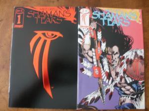 IMAGE Comic Book (1993) SHAMAN'S TEARS #1 (Reflective Foil Cover) & #2