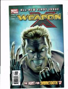 Lot of 4 Weapon X Marvel Comic Books #1 2 4 16 BH51