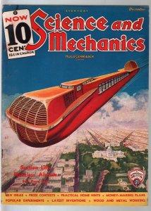 Everyday Science & Mechanics 12/1935-Frank R Paul cover-Origin of Moon-FN