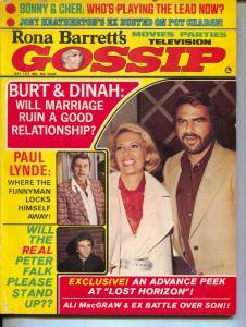 Rona Barrett's Gossip-Burt Reynolds-Dinah Shore-Peter Falk-May-1973
