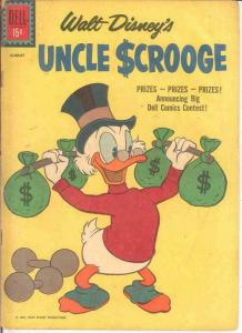 UNCLE SCROOGE 34 FR-G   August 1961 COMICS BOOK