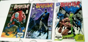 Batman Detective Comics 598 599 600 Blind Justice DC Set Series 1989 Run Lot FN