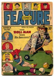 Feature Comics #132 1948- DOLL MAN- Golden Age FR