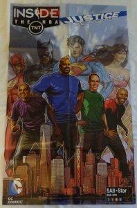 JUSTICE LEAGUE - NBA Promo Poster , 20.5x33.5, 2015, DC, Unused 046