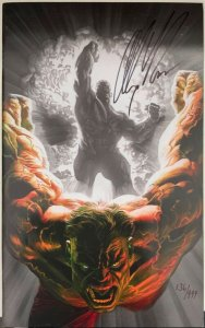 Incredible Hulk #600 VIRGIN VARIANT SIGNED BY ALEX ROSS WITH COA NEAR MINT.