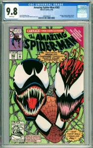 Amazing Spider-Man #363 CGC 9.8 NM/MT Carnage & Venom Appearance WHITE PAGES