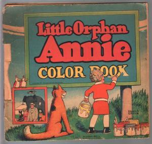 Little Orphan Annie Color Book #2035 1930-Harold Gray art-P/FR
