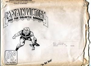 Captain Victory-Pacific Comics-1980's-used mailing envelope-Jack Kirby-G
