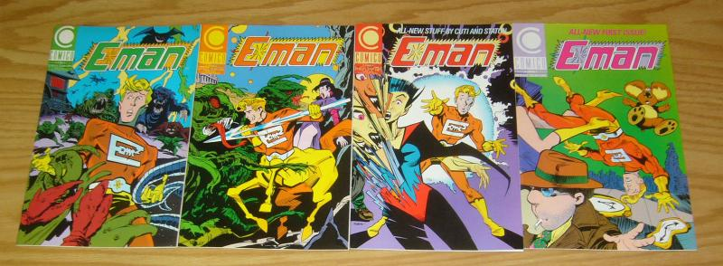 E-Man vol. 4 #1-3 VF/NM complete series + vol. 3 #1 nicola cuti - joe staton