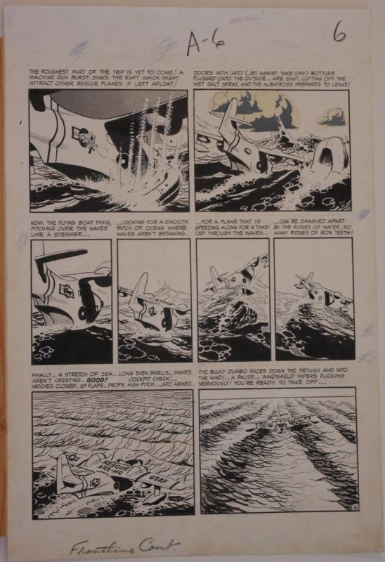 WALLY WOOD original art, FRONTLINE COMBAT #14 pg 6, 15x22, 1953, EC, Albatross
