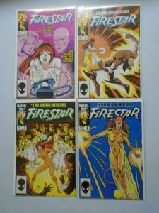 Firestar set #1-4 Direct edition 6.0 FN (1986)