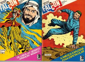 Falcon Comandos em Acao Brazilian GI Joe Comics Lot #1-4 (Editora Tres 1977) VF!