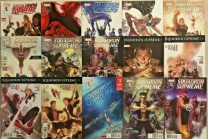 SQUADRON SUPREME#1-15 VF/NM LOT 2015 MARVEL COMICS