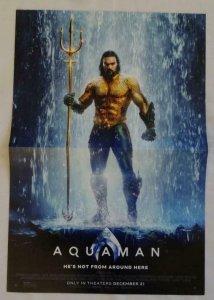 AQUAMAN Promo Poster , 11 x 17, 2018, DC, Unused more in our store 067