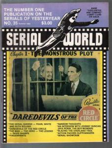 Serial World #35 1983-Kretzer-Daredevils of The Red Circle-Overland Trail-VG/FN