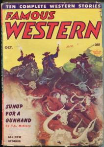 Famous Western-10/1953-Double Action-violent-western pulp thrills-FN