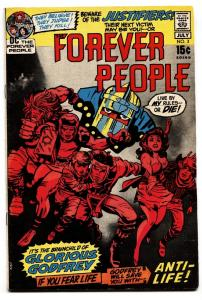 FOREVER PEOPLE #3 First appearance of GLORIOUS GODFREY and THE JUSTIFIERS
