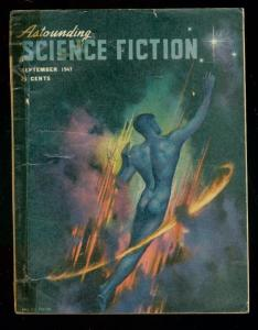 ASTOUNDING SCIENCE-FICTION SEPT 1947-L RON HUBBARD-good G