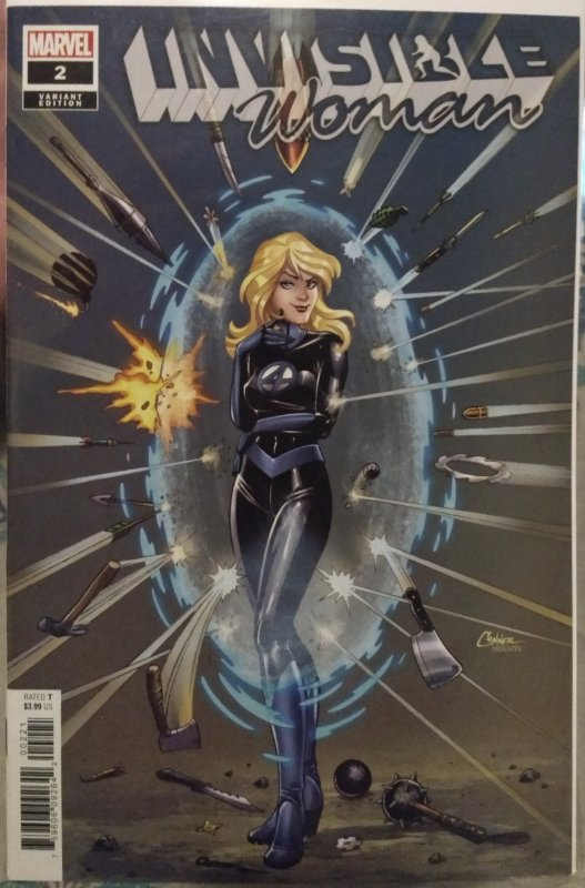 Invisible Woman #2 NM main cover and CONNER Variant set