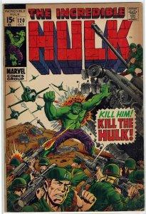 Incredible Hulk #120 (1968) Stan Lee Herb Trimpe FN+