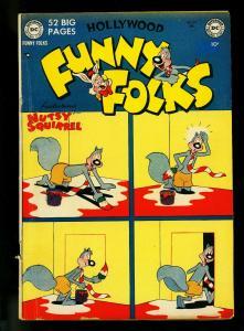 Hollywood Funny Folks #29 1950- Nutsy Squirrel- DC Funny Animal- VG