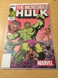 The Incredible Hulk #314 came with marvel legends hulk