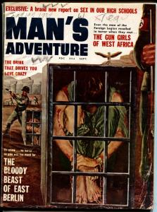 MAN'S MAGAZINE Sept 1960-Nazi torture cover-Cheesecake pix-wild