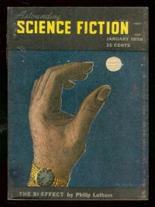 ASTOUNDING SCIENCE-FICTION JAN 1950-L RON HUBBARD-good minus G-