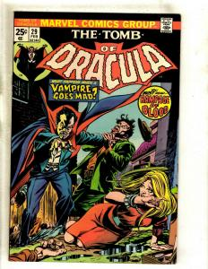 Lot Of 5 Tomb Of Dracula Marvel Comic Books # 29 31 32 33 34 VF Range RS1