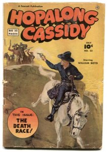 Hopalong Cassidy #33 1949- Norman Saunders cover VG-