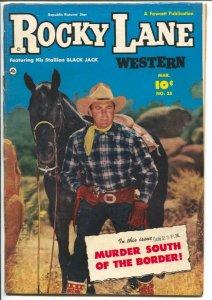 Rocky Lane Western #35-1952-Fawcett- B-Western movie star photo cover-FN-