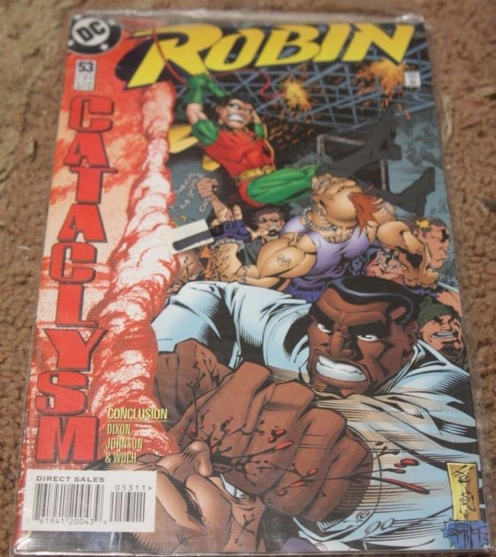 Robin  # 53 (May 1998, DC) cataclysm  batman gotham