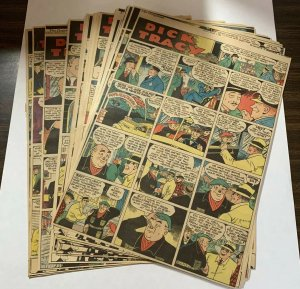 Dick Tracy Newspaper Comics 1939 Almost Complete (Missing 1) Sundays Large Form