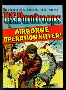 US Paratroopers #2 1952- Avon War Comic- Parachute cover- FN