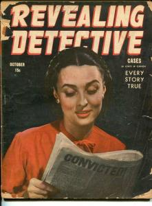 REVEALING  DETECTIVE-OCT 1945-SPICY-MURDER-VICE-good G